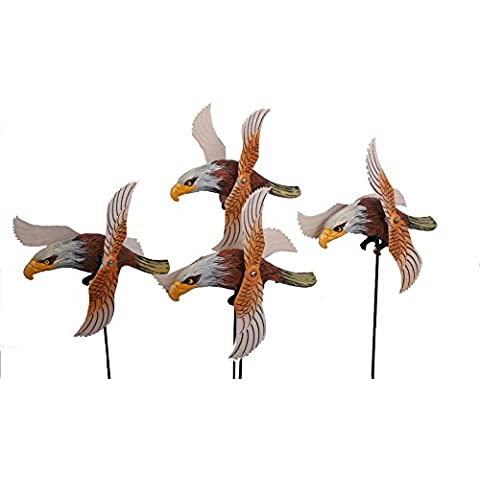 Bill & Fu decorazioni da giardino artificiale Eagle materiali gioco ornamentali da giardino in plastica, (Childrens Naturali Mobili)
