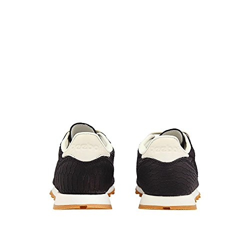 Reebok Classic Leather Clean Exotics Femme Baskets Mode Noir Noir