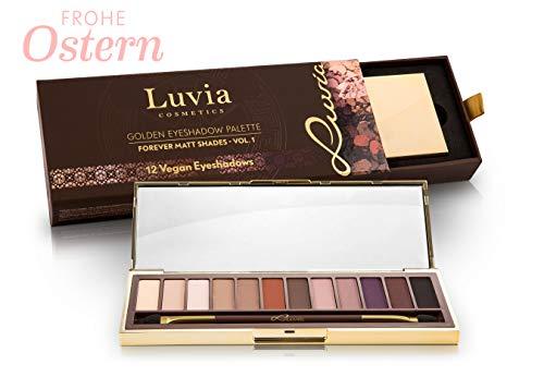 Luvia Profi Lidschatten-Palette - Forever Matt Eyeshadow Palette - Inkl. 12 Matten Nude, Braun & Erdtönen - Limitierte Geschenkbox zum Valentinstag