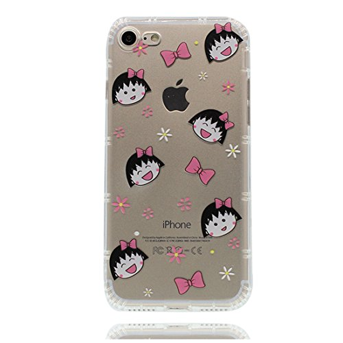 iPhone 6s Plus Custodia, Prova di scossa anti-graffio [ Cartoon Monte Fuji Fiore ] TPU Silicone Trasparente Nuovo Gel Soft Case iPhone 6/6S Plus Custodia (5.5 pollici) durevole Cartoon Cover # # 7