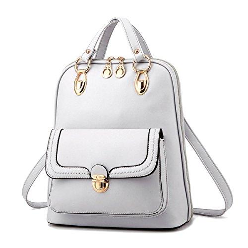 BUKUANG Bag Primavera E L'autunno Spalla PU Stile Europeo E Americano Zainetto,Pink White
