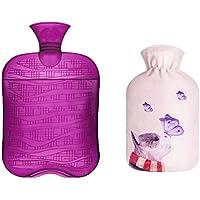 1800ML Klassisch PVC Kalt oder Heiße Wasserflasche mit weichem Plüschbezug, 11 preisvergleich bei billige-tabletten.eu
