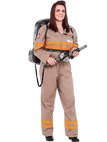 Plus Size Adult Ghost Buster's Movie Deluxe Ghostbusters Female Curvy Costume