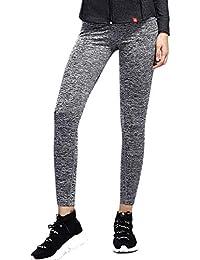 SUNNYME Femme Legging de Sport Pantalon de Yoga Jogging Sculptants Haut  Taille Pants Yoga Course 0bf9f9ca457
