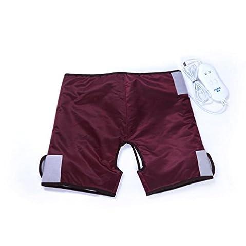 Pantalons chauffants électriques Soins de santé Taille Chaleur, étourdissement, palais, cuisse, nageoires et compression à chaud, 4 massage électrique du moteur (rouge vin rouge) , A