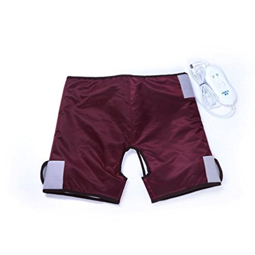Elektrische Warm Pants Health Care Taille Warm, Magen, Palast, Oberschenkel, Gesäß und heiße Kompresse, 4 Elektromotor Massage (Weinrot Pink) , white4