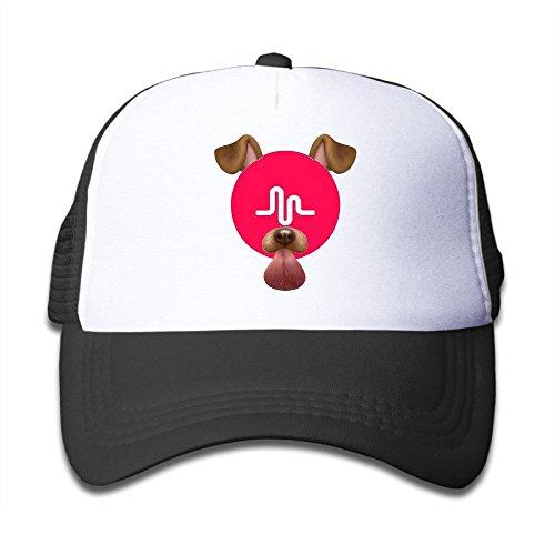 Preisvergleich Produktbild Hittings WuliNN Boys / Girls Musical.ly Fan Adjustable Mesh Trucker Caps Hats Black