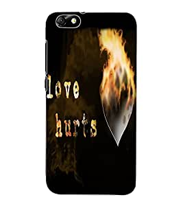 ColourCraft Love Quote Design Back Case Cover for HUAWEI HONOR 4X