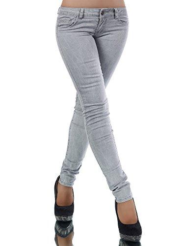 Diva-Jeans -  Jeans  - skinny - Basic - Donna Grau L/46