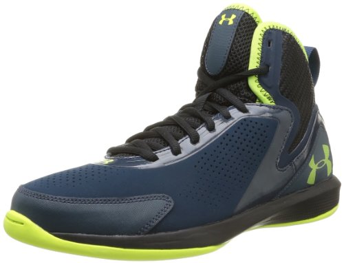 Under Armour Ua Jet 2, Chaussures de basketball homme Bleu (Academy/Hyper Green)