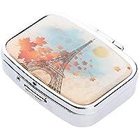 Fenteer Mini Tablettenbox Pillendose Wasserdichter Pillenbox Tablettendose mit 2 Fächern, für Reise und täglichen... preisvergleich bei billige-tabletten.eu