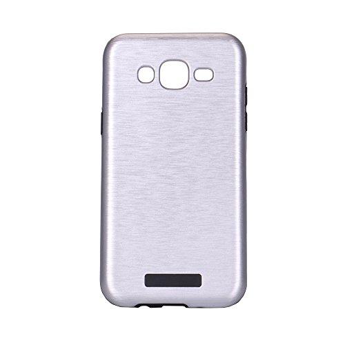 Meimeiwu Custodia TPU Design: 2 in 1 Case Cover Involucro Bumper Astuccio per Samsung Galaxy A510 A5 2016 - Nero Argento