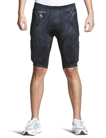 Adidas Padded Pad Short GFX Hose schwarz Gr XL Techfit Compression NBA Basketball Grafik