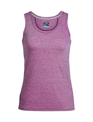 Icebreaker Damen Sphere Tank leicht Tops L Vivid/Snow/Stripe (Stripe Shirt L/s)