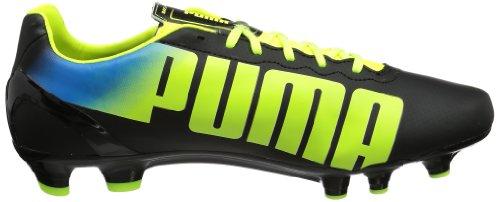 Puma  evoSPEED 4.2 FG,  Scarpe da calcio uomo Nero (Schwarz (black-fluo yellow-brilliant blue 01))
