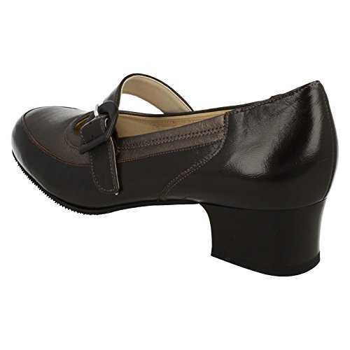 Equity , Sandales Compensées femme - Brown/Bronze Leather