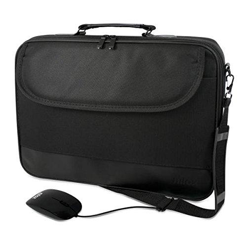 Nilox Notebag Pro 2 - Bolsa para portátil de 15.6 y Mouse USB, Color Negro
