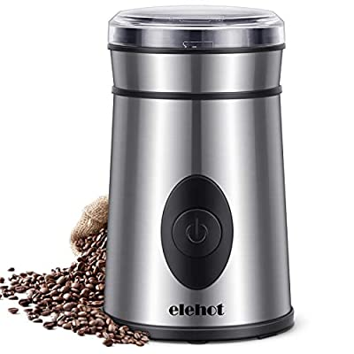 Coffee Grinder Spice Bean Nut Electric Coffee Bean Grinder Stainless Steel Blade Coffee Mill 200W by ELEHOT