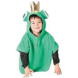 Guirca - Disfraz de rana, talla 3-4 años, color verde (82640)