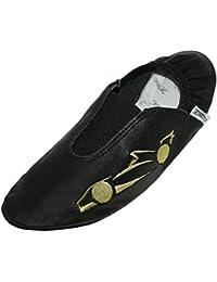 Lappa.de - Zapatillas de gimnasia de Piel para mujer Lachsrot 1FGl2