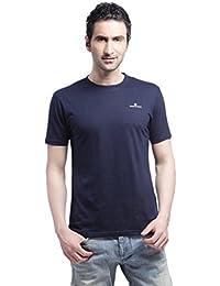 Crosscreek Casual Navy Solid T-Shirt - 910011