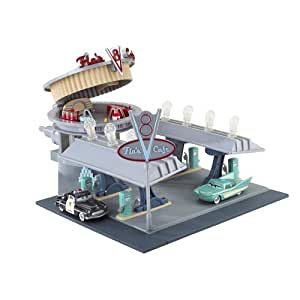 Disney Pixar CARS Flo's V8 Cafe (RADIATOR SPRINGS CLASSIC Exclusive Playset) by Mattel (English Manual)
