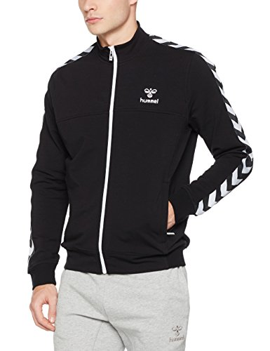 Hummel Herren Classic Bee Aage Zip Jacket Jacke, Black, XXL (Gestickte Hummel)