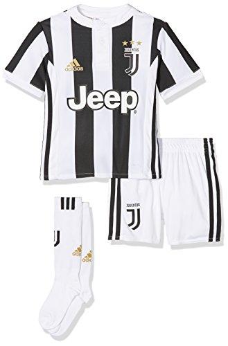 Adidas Juve H Mini Conjunto 1ª Equipación Juventus, Unisex niños, (Blanco/Negro), 110 (4/5 años)