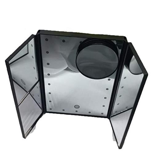 Tragbare Sonnenbrille 30% 1x 2X 3X Lupe LED Reise Kosmetikspiegel Touchscreen Hintergrundbeleuchtung Kosmetikspiegel