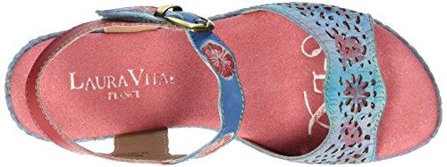 Laura Vita Beaute 02, Sandales  Bout ouvert femme Multicolore (Blau)