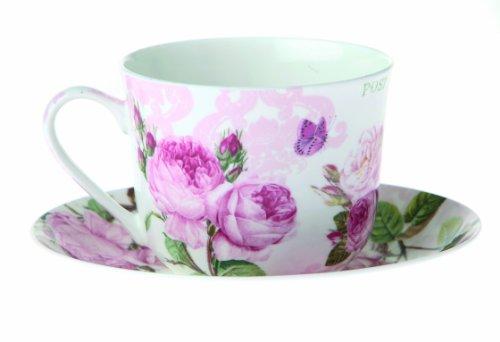 Nuova R2S R8698.283 Set de Tasses Coffret Petit-Déjeuner Roses Romantiques