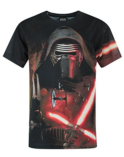 Oficial de Star Wars Force Awakens Kylo Ren Tiin sublimación camiseta para niño