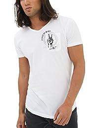 cc7eee5787038 trueprodigy Casual Hombre Marca Camiseta Estampado Ropa Retro Vintage Rock  Vestir Moda Cuello V Manga Corta