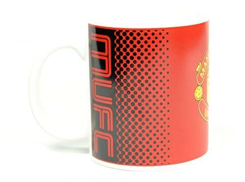 Manchester Man Utd United FC rouge fondu noir cadeau football tasse officielle