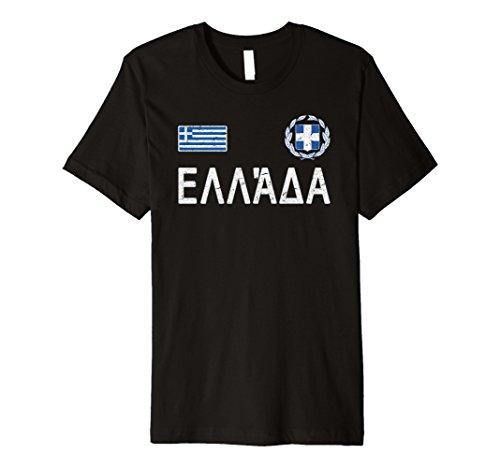 Griechenland T-Shirt Griechische Flagge Tee Fußball Fußball Trikot Style