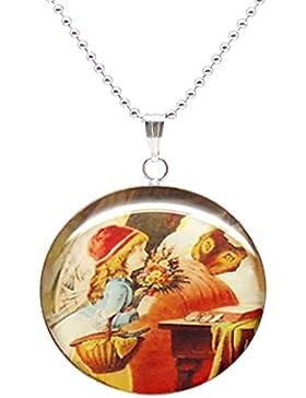 Handmade Jewelry Mädchen Edelstahl 50cm kurz Anhänger Halskette
