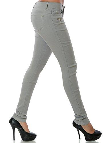 Damen Hose Treggings Skinny Röhre (weitere Farben) No 15528 Grau