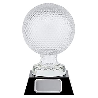 A1 PERSONALISED GIFTS Supreme Golf Ball Crystal Trophies