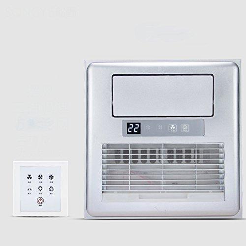 GX&XD Eingebettet Mobiles klimagerät Für Küche Toilette,Integrierte decke Elektrischer ventilator Mit licht Luftkühler ventilator Mit fernbedienung-D 12x12inch (Klimaanlage Decke)