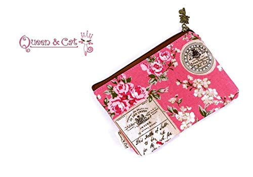 Porte Monnaie Fine imperméable -Queen & Cat-Rose Escarpin