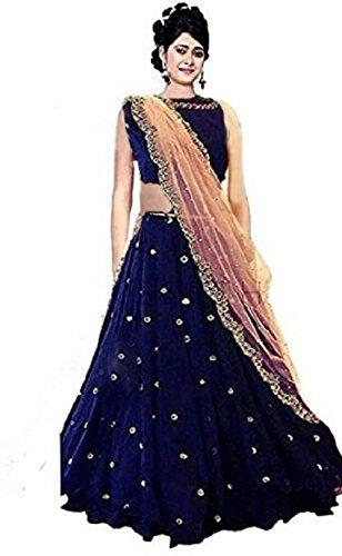 K King India Women's Georgette Lehenga Choli (Free Size)