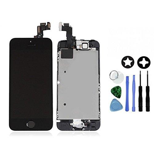 Ecran LCD Retina + Vitre Tactile Tout Assemblé Complet sur châssis pour Iphone 5s Noir + OUTILS