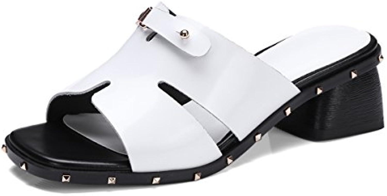 XUE Scarpe da Donna Pelle Estate Comfort Sandali Ciabatte e e e Infradito Scarpe da Passeggio Traspiranti Tacco a... | Nuovi Prodotti  | Scolaro/Ragazze Scarpa  3f0482