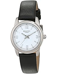 Regent Damen-Armbanduhr Analog Quarz Leder 12090295
