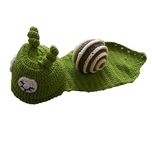 Imagen de m&a ropa disfraz fotografía para bebé 0 3 meses caracol verde