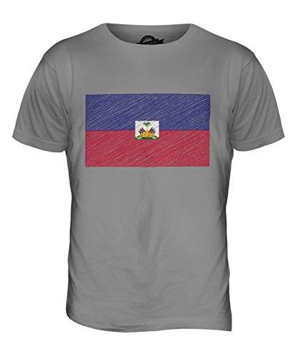 CandyMix Haiti Kritzelte Flagge Herren T Shirt Hellgrau