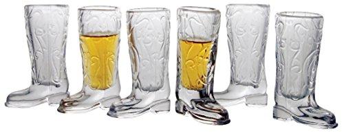 Kick Back, 6-er Set, 1.5 ml Boot Shot Gläser Glas Boot Krug