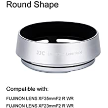 eFonto/JJC Metall Gegenlichtblende für Fujifilm Fujinon Objektiv XF 35mm f2,XF 23mm F2 R WR Objektiv Ersatz Fuji LH-XF35–2 (Silber)