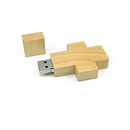Febniscte chiavetta usb 2.0 da 8gb croce di legno pendrive