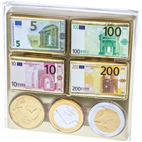 Set de regalo - Dinero de chocolate - Euros - 165 g